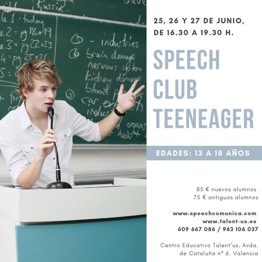 speech teeneager